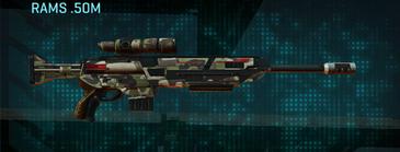 Woodland sniper rifle rams .50m