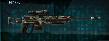 Woodland sniper rifle m77-b