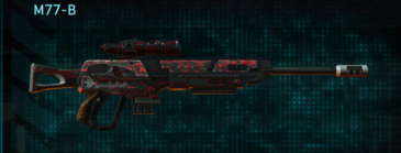 Tr digital sniper rifle m77-b