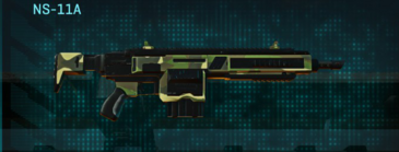 Temperate forest assault rifle ns-11a