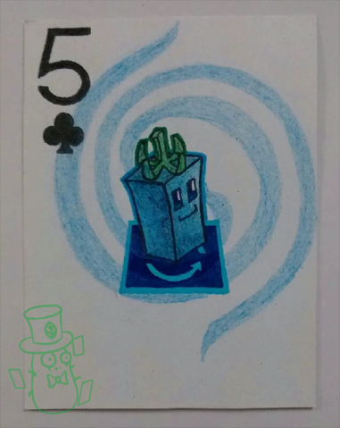 File:Plants of playing CARDS:Club 5.png