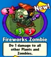 Receiving Fireworks Zombie