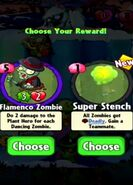 Choice between Flamenco Zombie and Super Stench