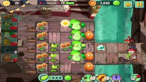 Plants vs Zombies 2 Pirate Seas Day 6 Walkthrough