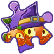Pumpkin Witch Puzzle Piece