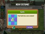 Getting Garlic's Second Costume
