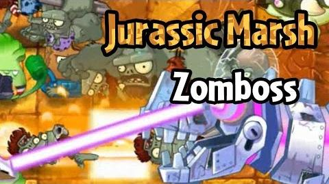 File:Plants vs Zombies 2 - Jurassic Marsh Zomboss (Demo Beta 2)-0