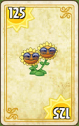 Twin Sunflower Card Costume