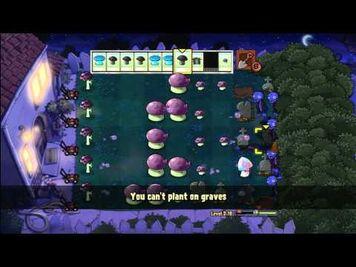 Plants vs zombies Level 2-10 X Box