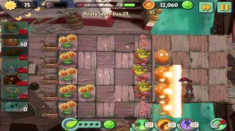 Plants vs Zombies 2 Pirate Seas Day 23Walkthrough