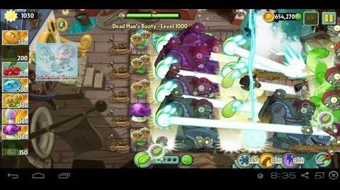 Dead Man's Booty Level 1000 Impossible Level with Gargantuar Plants vs Zombies 2