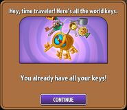 World Key Chain being obtained after