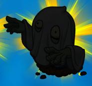 Haunting Zombie silhouette