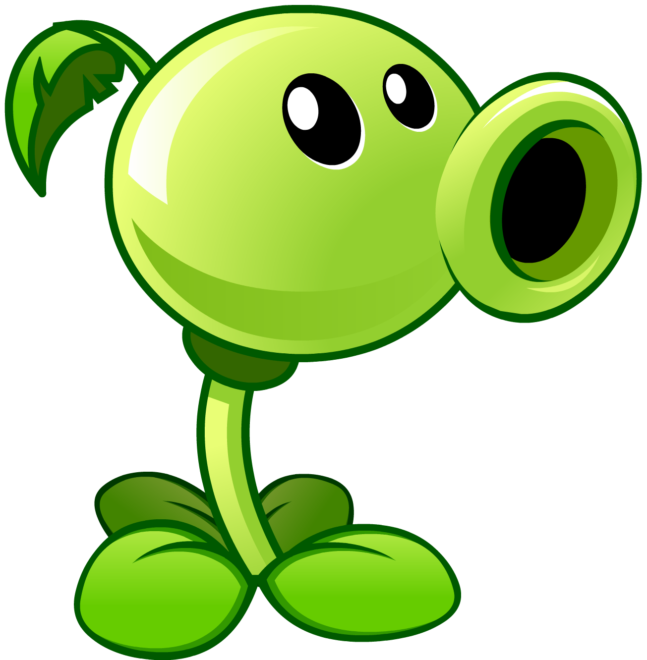 Image result for plants vs zombies peashooter png
