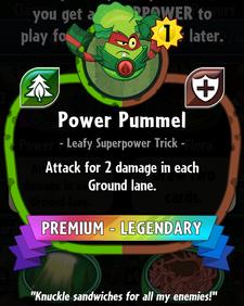 Power Pummel statistics crop