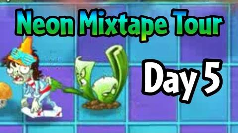 Plants vs Zombies 2 - Neon Mixtape Tour Day 5 (Beta)- Celery Stalker and bugs