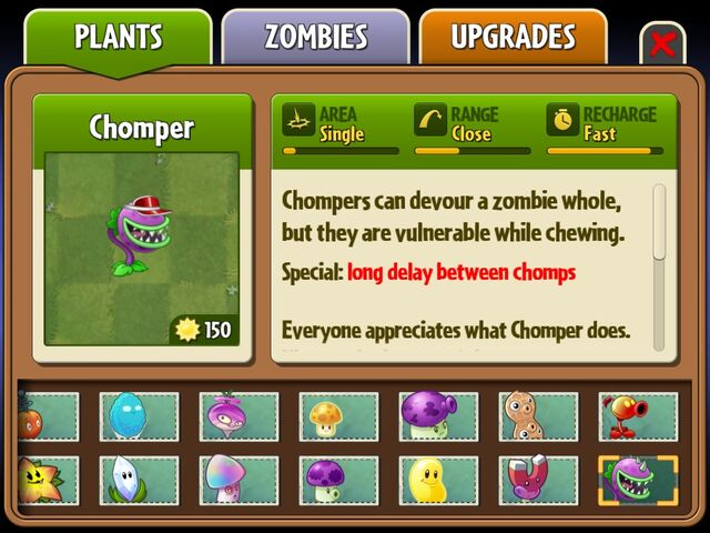 File:I got Chomper and Fire Pea back on iOS ^ ^.jpg