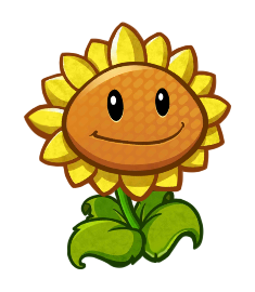 Image result for plants vs zombies sunflower png