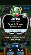 Snowdrop stats