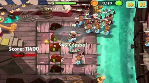 Plants vs Zombies 2 Pirate Seas Day 11 Walkthrough