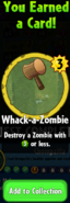 Earning Whack-a-Zombie