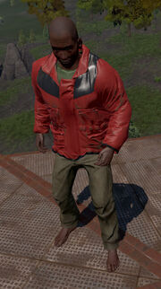 Red snow jacket