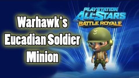 Playstation All-Stars Battle Royale Warhawk's Eucadian Soldier Minion