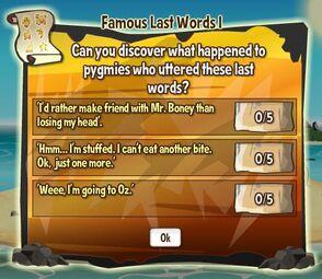 Famous last words 1