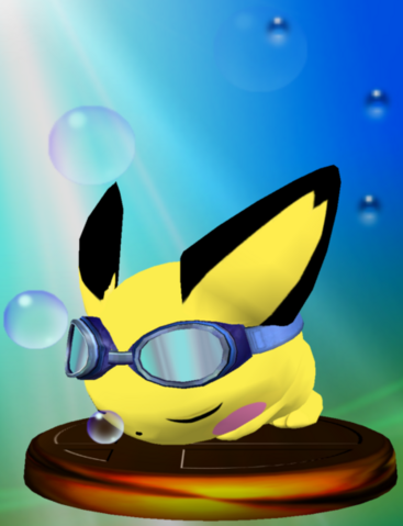 File:Pichu (Smash 2) trophy SSBM.png