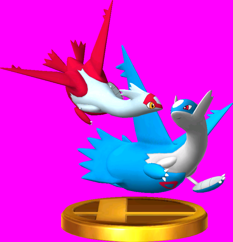 Latias & Latios trophy SSB3DS