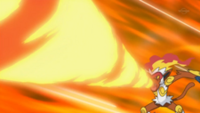 Ash Infernape Flamethrower