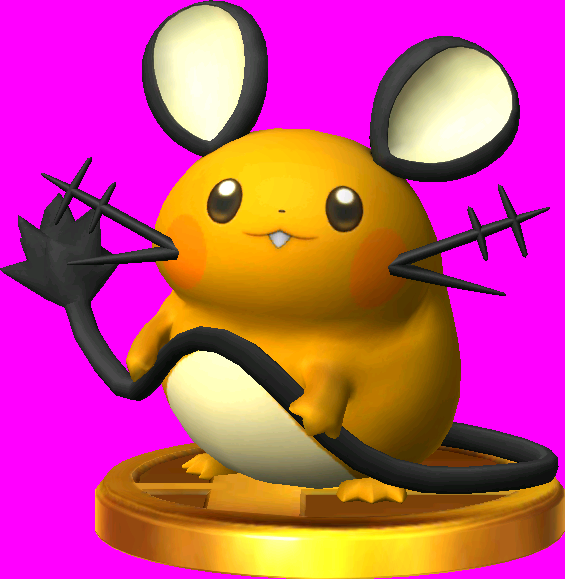 File:Dedenne trophy SSB3DS.png