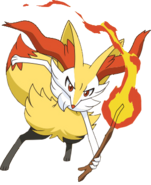 654Braixen XY anime 4