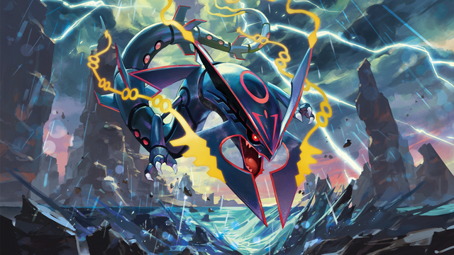 File:Shiny Mega Rayquaza - Pokemon TCG XY Ancient Origins.png