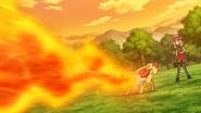 Serena Fennekin Flamethrower