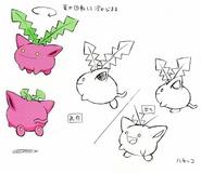 Hoppip concept art