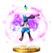 Mega Evolution (Lucario) trophy SSBWU