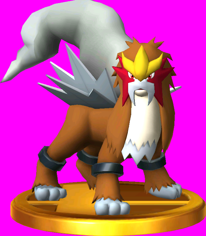 File:Entei trophy SSB3DS.png