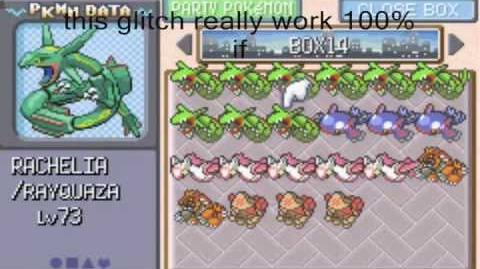 Pokemon emerald glitch how to clone pokemons