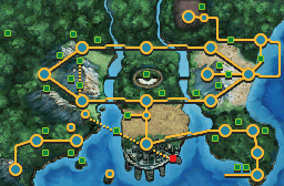 Unova Castelia Sewers Map