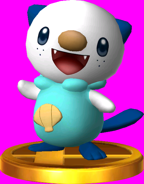 Oshawott trophy SSB3DS