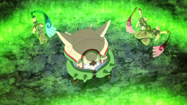 File:Chesnaught, Honedge and Doublade being revived.png