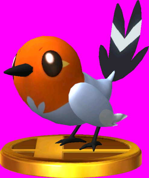File:Fletchling trophy SSB3DS.png
