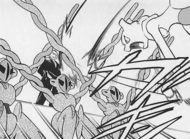 Mewtwo attacks Giovanni out of rage
