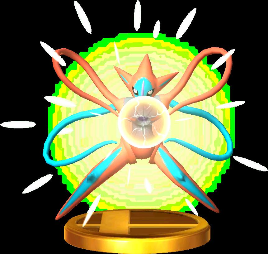 File:Deoxys trophy SSB3DS.png