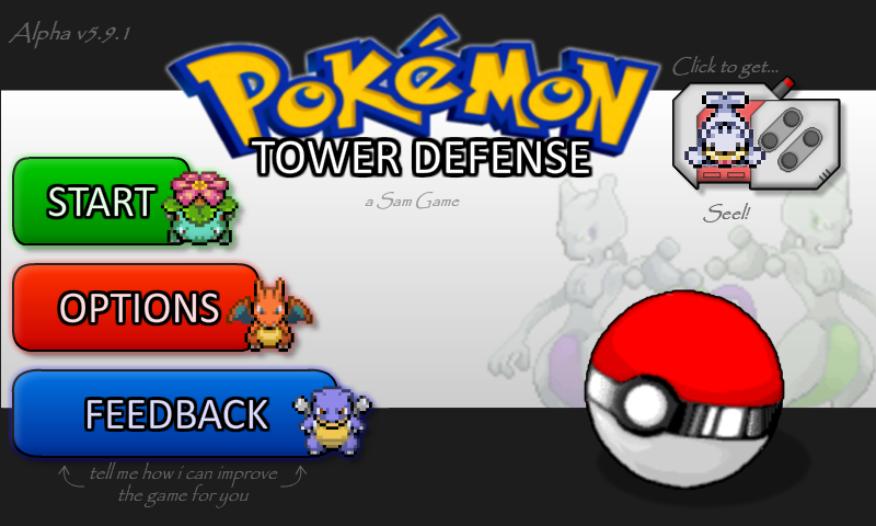 pokemon tower defense online game