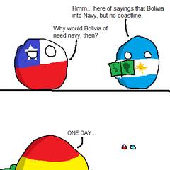 Bolivia has navy, but has no coastline
