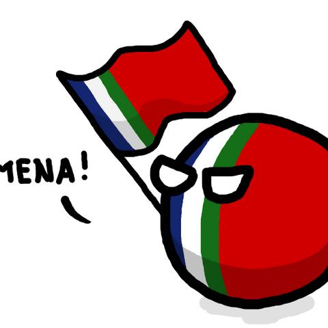 South Malukuball hold his flag