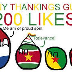 Surinameball got 200 likes