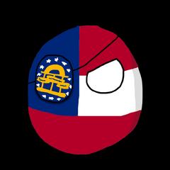 Georgia with an eyepatch